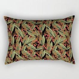 Flowering Gum - Black Rectangular Pillow