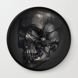 Skull in Low Poly Style Wall Clock