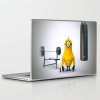 gym Laptop & iPad Skins featuring Minion Gym by TParish Productions