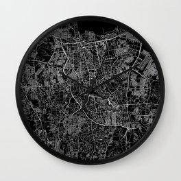 Jakarta Black Map Wall Clock