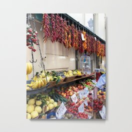 Pepper Garland Market Metal Print