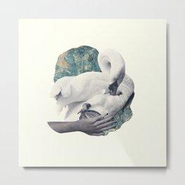 Hand Swan Metal Print