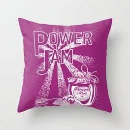 Power Jam graphic Throw Pillow