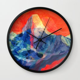 Abstract Mt. Everest Wall Clock