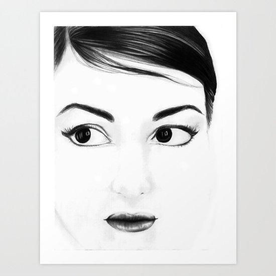 pretty face Art Print