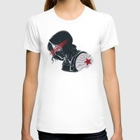 winter soldier T-shirts featuring Winter Soldier  by Charleighkat