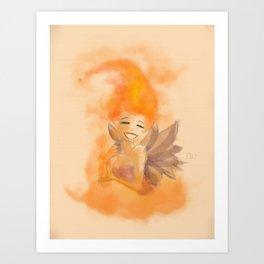 Fire fairy 2 Art Print