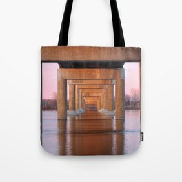 Twilight Bridge Pillars Tote Bag