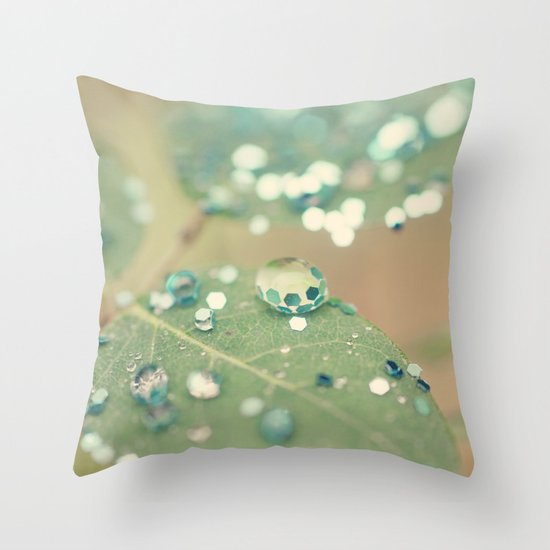 Playing in the Rain Throw Pillow