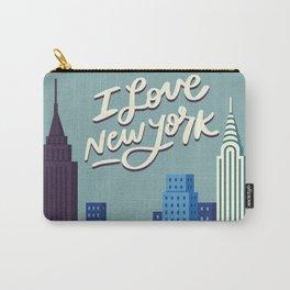 I Love New York Blue City Skyline Carry-All Pouch