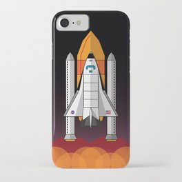 Space Shuttle night launch iPhone Case