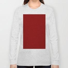 Dark Red Long Sleeve T-shirt