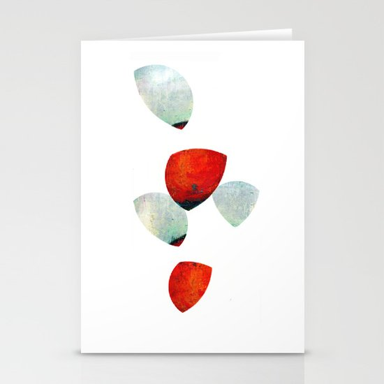 composition in red and grey Stationery Cards