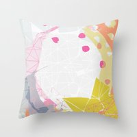 atlas Throw Pillows featuring Atlas by lizzy gray kitchens