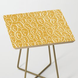 faces / mustard Side Table