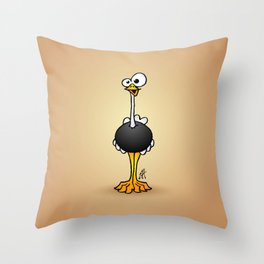 Ostrich Throw Pillow
