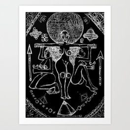 2013 Goddess of Balance (black design) Art Print