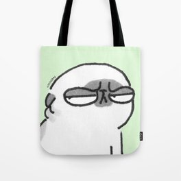 Mochi the pug giving the stink eye Tote Bag