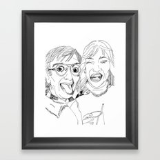 Yearbook Faces Framed Art Print