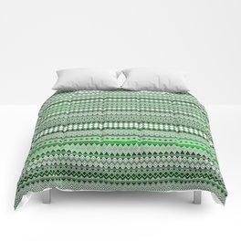 Tribality Green Texture Comforters