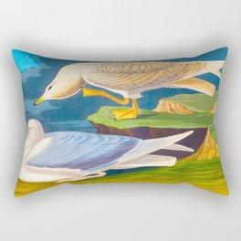 White Winged Silver Gull Rectangular Pillow