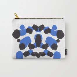Baby Blue Inkblot Pattern Carry-All Pouch