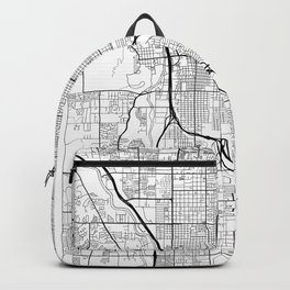 Tucson Map White Backpack