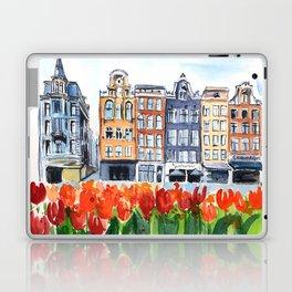 Amsterdam watercolor Laptop & iPad Skin