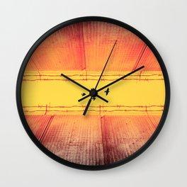 The Closing Apartheid wall in Palestine Wall Clock