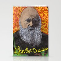 darwin Stationery Cards featuring Charles Darwin by Ibbanez