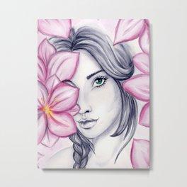 into flowers Metal Print
