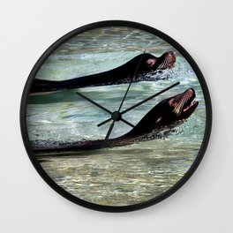 SEA LIONS at the ZOO Wall Clock