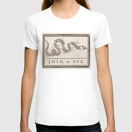 Join or Die Eight Colonies T-shirt