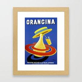 Vintage Advertising Poster - Orangina by Bernard Villemot Framed Art Print