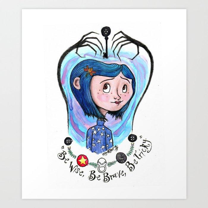 Coraline Jones Art Print By Meganelizabethart13 Society6