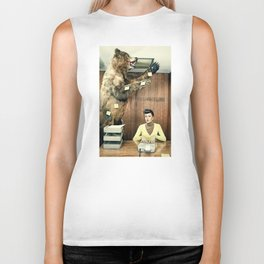 Post it funny Bear Biker Tank