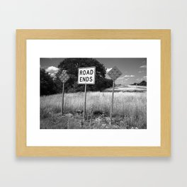 Route 66 - End of the Road 2012 Framed Art Print