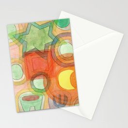 Various Things lit by the Moon Stationery Cards