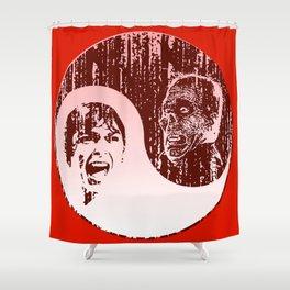 Yin Yang Horror - dark print Shower Curtain