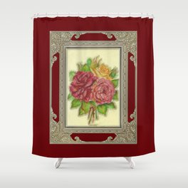 Bunch of Roses red design Shower Curtain