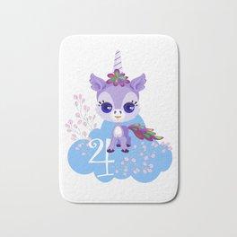 Unicorns Child Birthday Party Cute Cuddly Shirt Gift Bath Mat