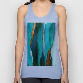 """""""a dark february redux1"""" abstract watercolor painting Unisex Tank Top"""