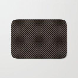 Black and Carafe Polka Dots Bath Mat