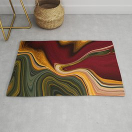 Marble Marbled Abstract Paint LXXIV Rug