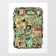 Grand Ménage Art Print