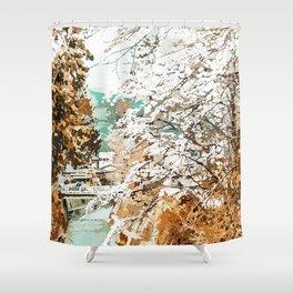 Japan #painting #places Shower Curtain