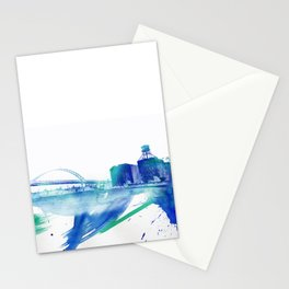 PDX Watercolor 2- Fremont Bridge Stationery Cards