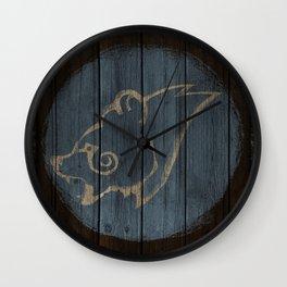 Bear Shield Wall Clock