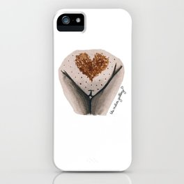 Pubic Heart - Chocolate Brown iPhone Case
