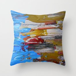 Beach Tide Acrylics On Stretched Canvas Throw Pillow
